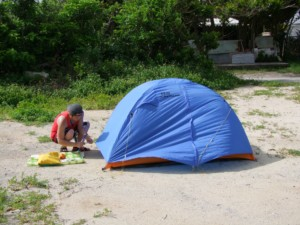 沖縄でソロキャンプ